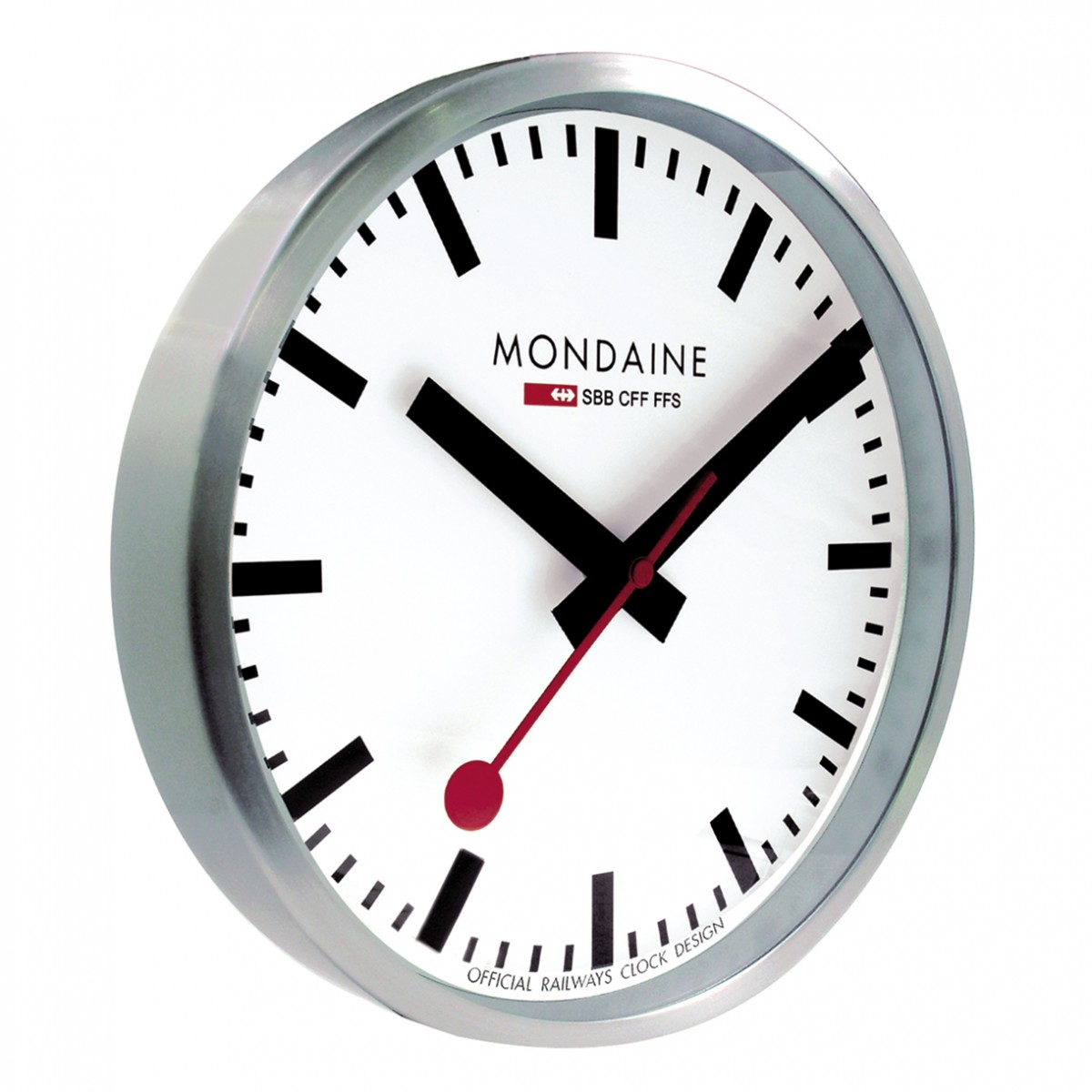Mondaine clocks crown jewellery - Swiss railway wall clock ...