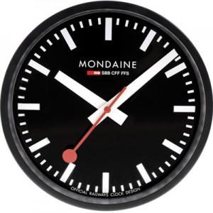 mondaine clockblack