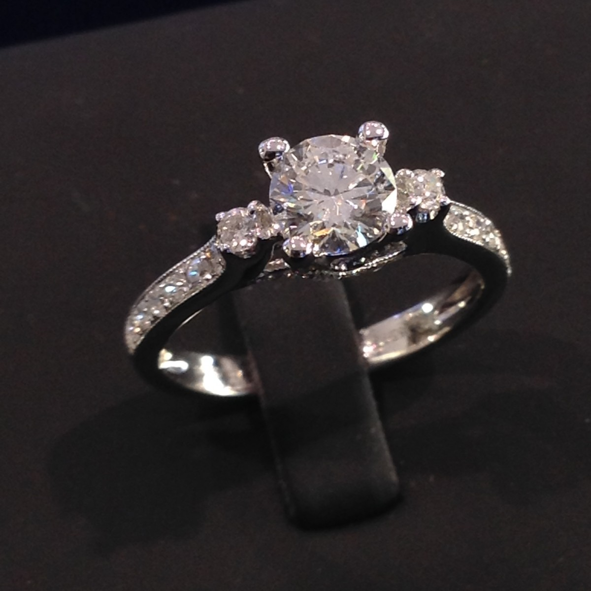 Diamond Engagement Ring Crown Jewellery