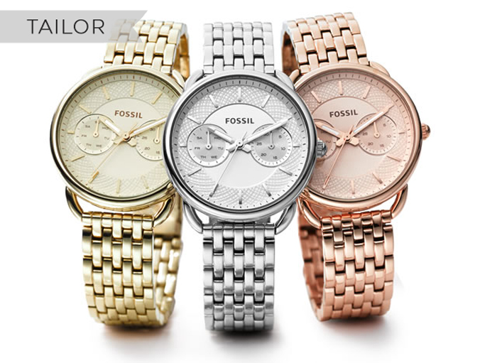 fossil tailor watches crown jewellery
