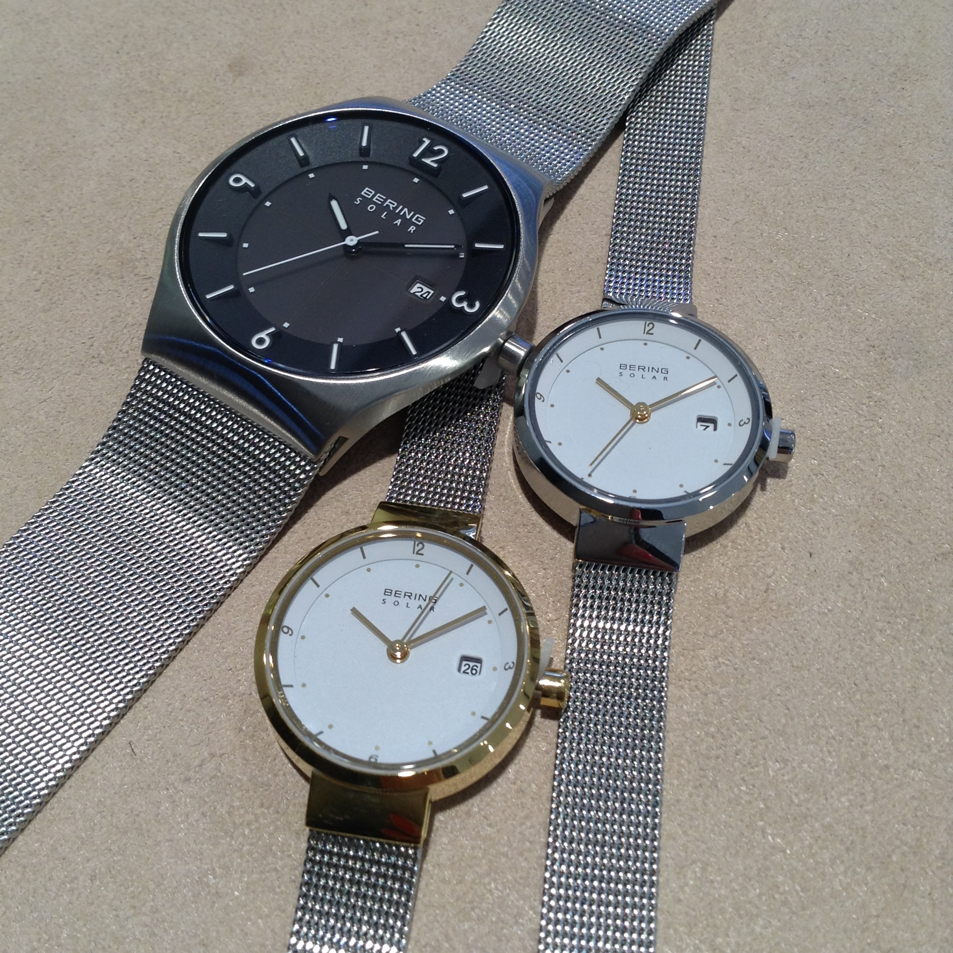 Bering Solar Powered Watches Crown Jewellery