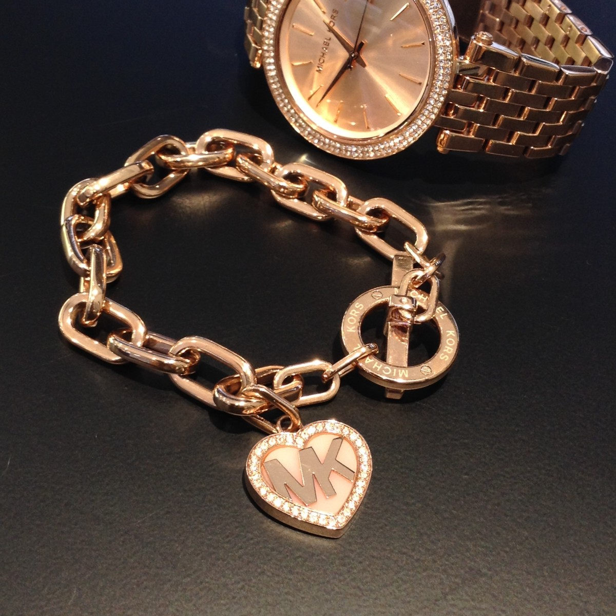 michael kors rose gold bracelet crown jewellery. Black Bedroom Furniture Sets. Home Design Ideas