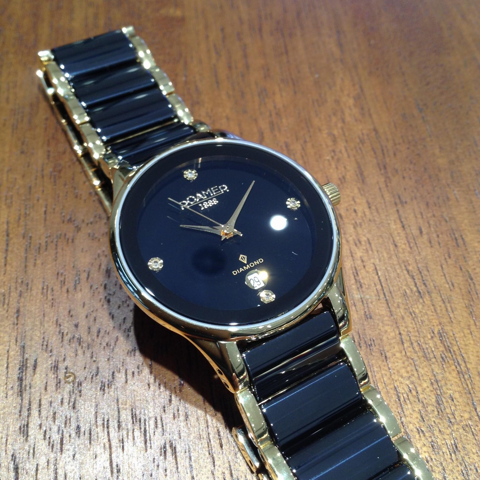 Roamer Ceraline Saphira Watch Crown Jewellery
