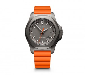 VICTORINOX INOX TITANIUM ORANGE CROWN JEWELLERY