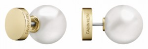Calvin Klein Bubbly Champagne & Pearl Stud Earrings