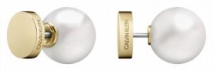 Calvin Klein Bubbly Champagne & Pearl Stud Earrings