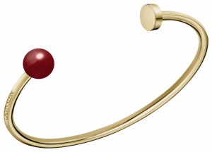 Calvin Klein Bubbly Champagne & Red Coral Bangle