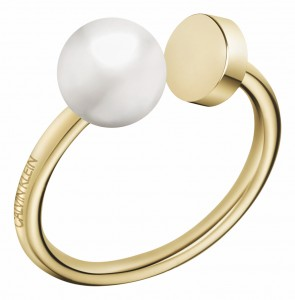 Calvin Klein Bubbly Champagne & Pearl Ring